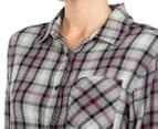Rusty Women's Recorder Long Sleeve Flannel Shirt - Char 6