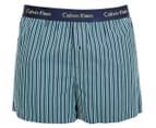 Calvin Klein Men's Slim Fit Boxer - Navy/Dark Green 1