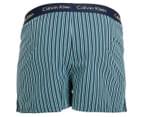 Calvin Klein Men's Slim Fit Boxer - Navy/Dark Green 2