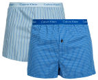 Calvin Klein Men's Slim Fit Boxers 2-Pack - Blue 1