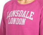 Lonsdale Women's Heather Sweater - Magenta Haze 6
