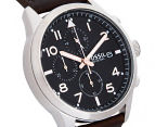 Fossil Men's 44mm Daily Chronograph Leather Watch - Dark Brown 2