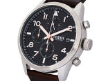 Fossil Men's 44mm Daily Chronograph Leather Watch - Dark Brown 3