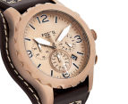 Fossil Men's 50mm Nate Chronograph Leather Watch - Dark Brown 2