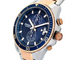 Fossil Men's 45mm Wakefield Chronograph Two-Tone Watch - Silver/Rose Gold 3