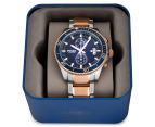 Fossil Men's 45mm Wakefield Chronograph Two-Tone Watch - Silver/Rose Gold 5