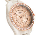 Fossil Women's 37mm Riley Multifunction Resin Watch - Shimmer Horn 2