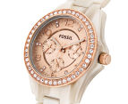 Fossil Women's 37mm Riley Multifunction Resin Watch - Shimmer Horn 3