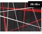 Geo 280 x 190cm Zen Rug - Red 1