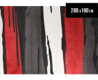 Splash Stripe 280 x 190cm Zen Rug - Red 1