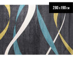 Ribbon 280 x 190cm Zen Rug - Charcoal 1