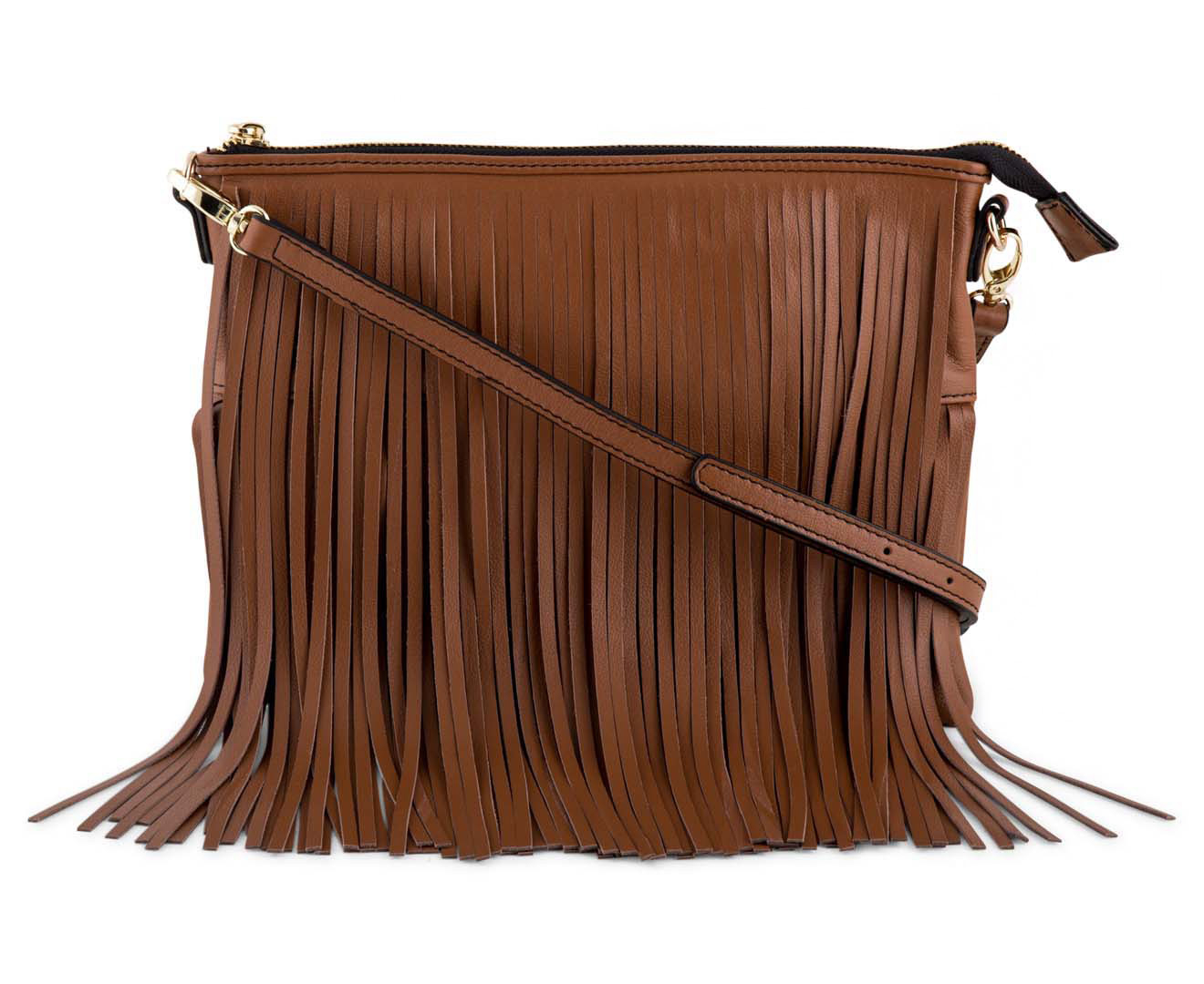 Catch.com.au | Cooper St Soul Leather Fringe Sling Bag - Tan