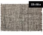 Handwoven Pure Wool Flatweave 225x155cm Rug - Slate 1