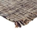 Handwoven Pure Wool Flatweave 225x155cm Rug - Slate 2