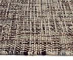 Handwoven Pure Wool Flatweave 280x190cm Rug - Slate 3