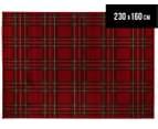 Hot Dash Plaid 230x160cm Jute Rug - Red 1