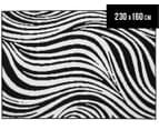 Hot Dash Zebra 230x160cm Jute Rug - Black/White 1