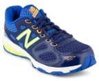 New Balance Pre/Grade-School Kids' KR680TBY Lace Shoe - Blue/Green 2