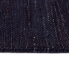 Handwoven Wool & Jute Flatweave 225x155cm Rug - Midnight 3