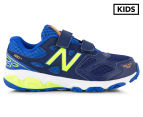 New Balance Pre-School Kids' KV680TBY Velcro Shoe - Blue/Green 1