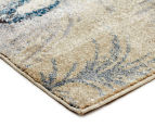 Urban Floor Art Peacock Feathers 330x240cm Jute Rug - Cream 3