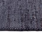 Handwoven Wool & Jute Flatweave 225x155cm Rug - Smoke 3