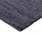 Handwoven Wool & Jute Flatweave 280x190cm Rug - Smoke 2