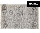 Handwoven Viscose & Cotton Flatweave 280x190cm Rug - Blue 1