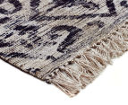 Handwoven Viscose & Cotton Flatweave 280x190cm Rug - Blue 2