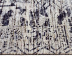 Handwoven Viscose & Cotton Flatweave 280x190cm Rug - Blue 3