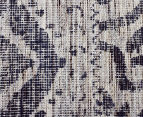 Handwoven Viscose & Cotton Flatweave 280x190cm Rug - Blue 4