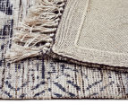Handwoven Viscose & Cotton Flatweave 280x190cm Rug - Blue 5