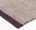 Scandi Floors Artisan Wool 280x190cm Rug - Aubergine 2