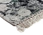 Handwoven Viscose & Cotton Flatweave 280x190cm Rug - Green 2