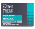 Dove Men's Aqua Impact Soap 4pk 1