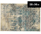 Urban Floor Art Ancient 330x240cm Jute Rug - Blue/Cream 1