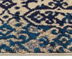 Urban Floor Art Ancient 330x240cm Jute Rug - Blue/Cream 4