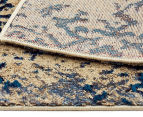 Urban Floor Art Ancient 330x240cm Jute Rug - Blue/Cream 6