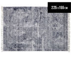 Handwoven Viscose & Cotton Flatweave 225x155cm Rug - Navy 1