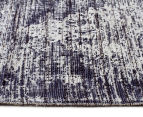 Handwoven Viscose & Cotton Flatweave 225x155cm Rug - Navy 3