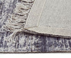 Handwoven Viscose & Cotton Flatweave 225x155cm Rug - Navy 5