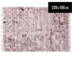 Handwoven Viscose & Cotton Flatweave 225x155cm Rug - Rose 1