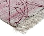 Handwoven Viscose & Cotton Flatweave 225x155cm Rug - Rose 2