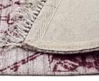 Handwoven Viscose & Cotton Flatweave 225x155cm Rug - Rose 5
