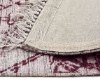 Handwoven Viscose & Cotton Flatweave 280x190cm Rug - Rose 5