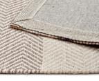 Handwoven Cotton & Wool Flatweave 225x155cm Rug - Blue 5