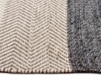 Handwoven Cotton & Wool Flatweave 280x190cm Rug - Blue 3