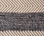 Handwoven Cotton & Wool Flatweave 320x230cm Rug - Blue 6