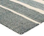 Scandi Floors Artisan Wool 225x155cm Rug - Teal 2