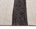 Handwoven Cotton & Wool Flatweave 280x190cm Rug - Charcoal 3